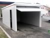 garage bianco in PVC